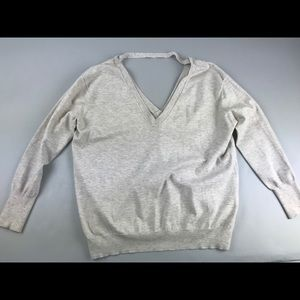 Aritzia Wilfred Cadre Sweater V Neck Small S Crop